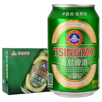 青岛啤酒(Tsingtao)经典11度330ml*24听 整箱装 口感醇厚(新老包装随机发放)