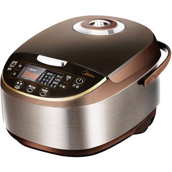 美的(Midea)电饭煲电饭锅5L大容量智能预约气动涡轮防溢锅金属机身家用电饭煲MB-WFS5017