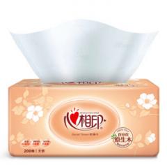 【昊阳文化办公用品】 心相印抽纸 经典系列 2层200抽面巾纸*20包(中规格)软抽