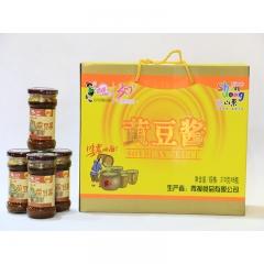 【山妞】青援黄豆酱210g*8瓶地方特色产品礼盒装小吃调料调味品拌饭拌面酱