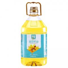 金胜鲜油坊压榨葵花籽油4L清香食用油大桶