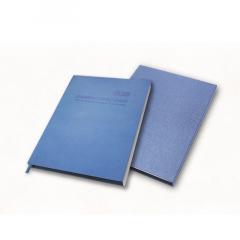 集团人力资源定制笔记本,只加印LOGO,PU变色封皮 浅蓝色