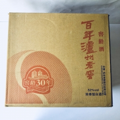 【沂蒙红嫂土特产】泸州百年三十年窖龄酒52度°  一箱(1×6瓶装)高度52度