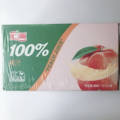 【沂蒙红嫂土特产】源果汁果汁 百分百 ( 蜜桃味) 每箱1×12盒  每盒1升装  软包装
