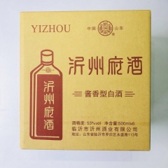 【沂蒙红嫂土特产】沂州府酒 一箱6瓶装   高度53度°每瓶 500ml  酱香型白酒 浓香正宗