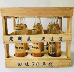 【沂蒙红嫂特产超市】沂河桥70年代老酒  52度°高度 一箱6瓶  每瓶500ml装  老朋友老味道