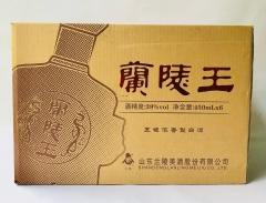 五粮型升级版兰陵王酒  39度°一箱1×6瓶×450ml   低度兰陵王   地方名酒