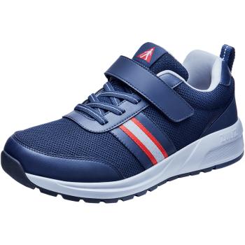 足力健 中老年人鞋休闲男女安全爸爸妈妈运动缓震平软底健步 ZLJ602 男款(蓝色) 42