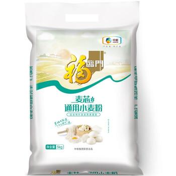 福临门  面粉 麦芯通用小麦粉 中筋粉 馒头、包子、烙饼等各类面食 中粮出品 5kg(新老包装随机发