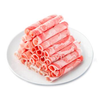 东来顺 国产草原羔羊原切羊肉片500g 火锅食材羊肉卷 内蒙古草饲散养羊肉