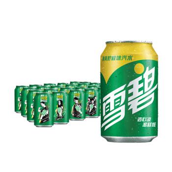 雪碧 Sprite 柠檬味 汽水 碳酸饮料 330ml*24罐 整箱装 可口可乐出品 新老包装随机发